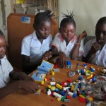 School children in DRC experience the fun of LEGO (c) for the very first time!