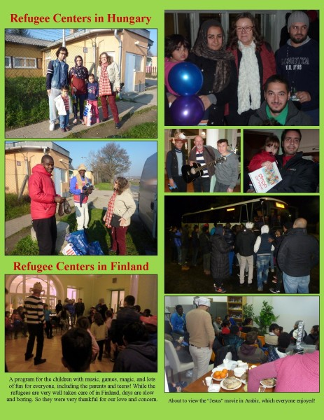 Distribution of aid and projects with refugees.