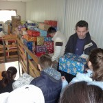 After our program, the gift packages were given to each child as they filed out of the bulding.